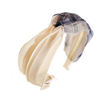 Opaska turban z materiału pin up kratka O395WZ1