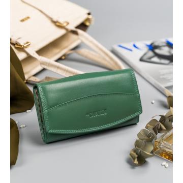 Portfel Damski Skórzany RD-BF-06-GCL Turquoise