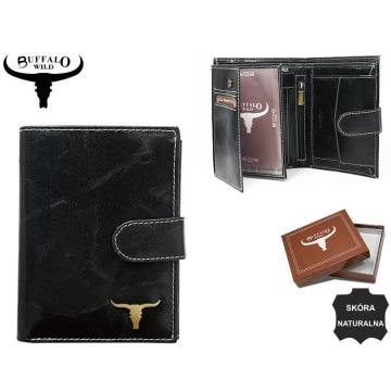 Portfel Męski Skórzany RM-04L-BAW Black