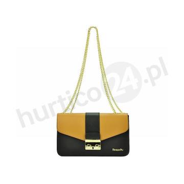 Patrizia Piu 02-003 (czarny + camel)