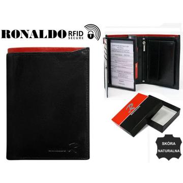 Portfel Męski Skórzany N104-VT-RFID Black+Red