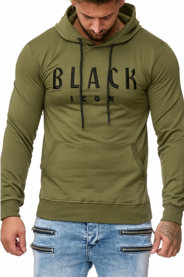BLUZA MĘSKA BLACK ICON - KHAKI