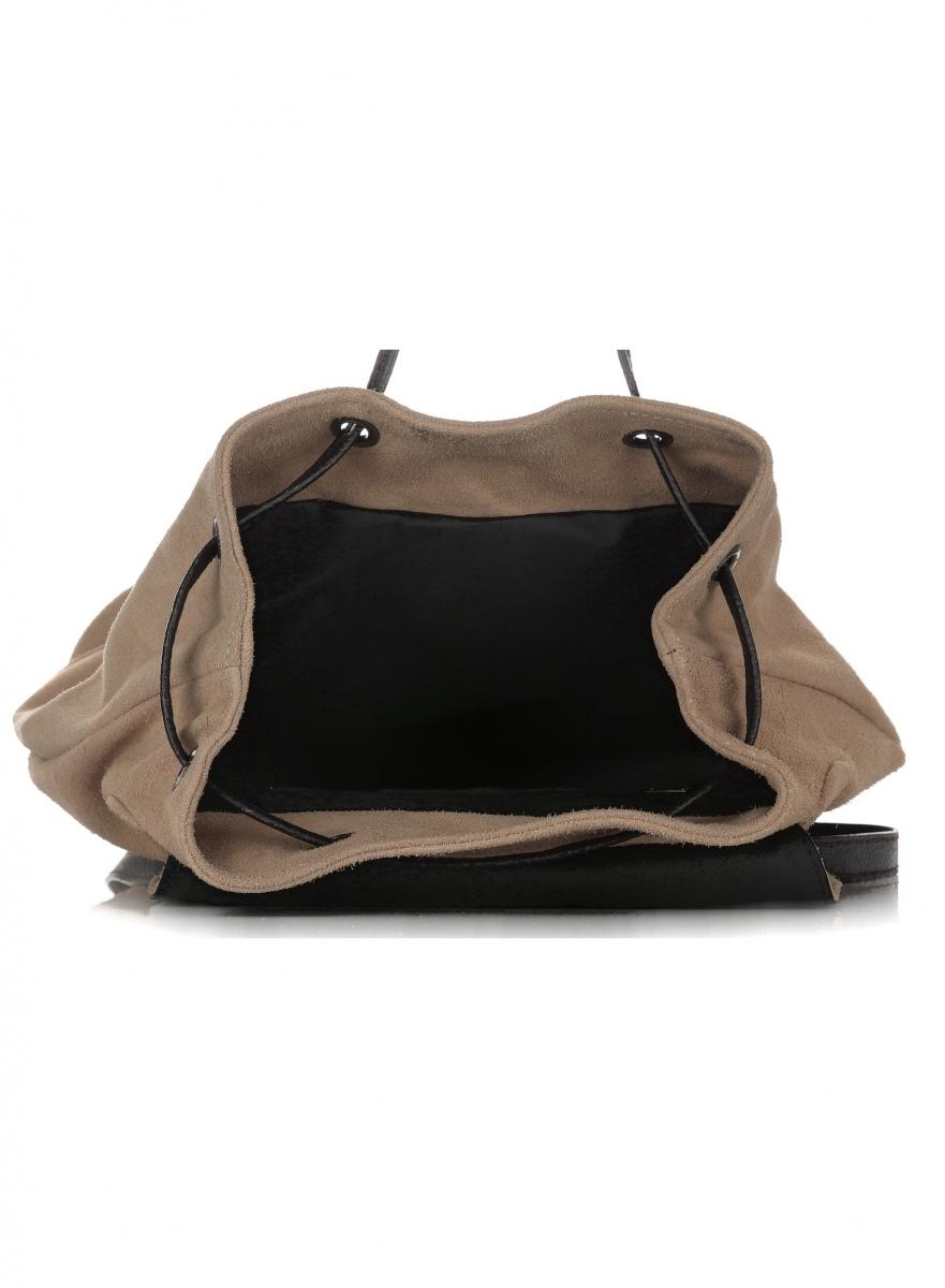 2862c155c3798 Plecak Skórzany VITTORIA GOTTI Made in Italy 80022 Ziemisty ...