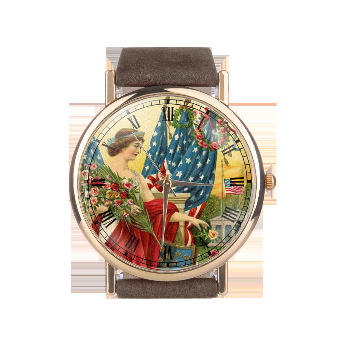 1317abc6ae0a0 Zegarek na pasku VINTAGE damski / męski / unisex / dużo wzorów i kolorów /  zaprojektuj swój wzór/ A00048